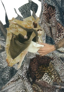Leopard Print Dance, Collage by Emily Hill, 2015