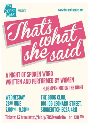 That's What She Said Flyer